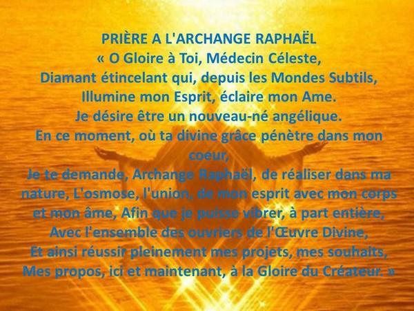 Prière à Saint Raphaël, Archange